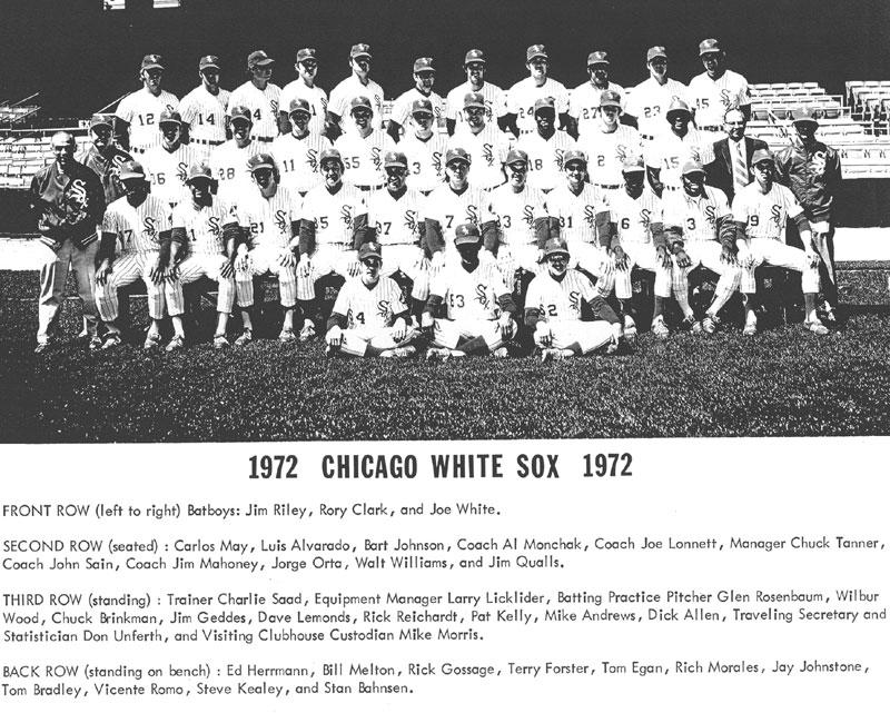 thedeadballera com    1972 chicago white sox team photo